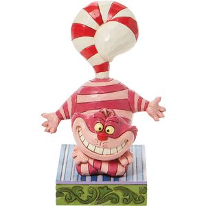 Disney Traditions Cheshire Cat Candy Cane Tail Figurine