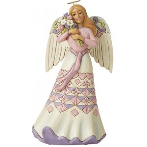 Heartwood Creek Angel Figurine - A Bouquet of Love for Mum (Angel with Flowers)