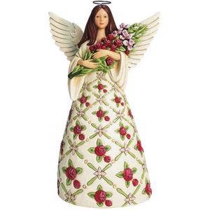Heartwood Creek Angel Figurine - Red Roses Flourish Like a Flower of the Field