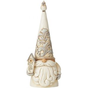 Heartwood Creek White Woodland Figurine - Gnome with Bird