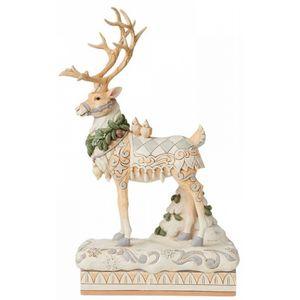 Heartwood Creek White Woodland Centrepiece Figurine - Reindeer