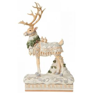 Heartwood Creek White woodland Reindeer Centrepiece