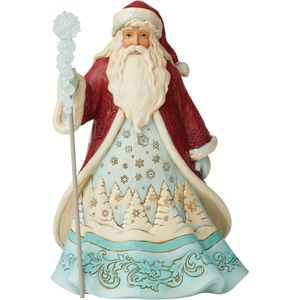 Heartwood Creek Winter Wonderland Figurine - Santa with Snowflakes