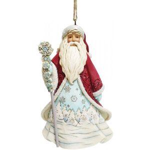 Heartwood Creek Hanging Ornament - Santa with Snowflake