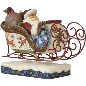 Heartwood Creek Victorian Santa Figurine - Santa in Sleigh