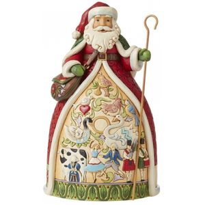 Heartwood Creek 12 Days of Christmas Santa Figurine