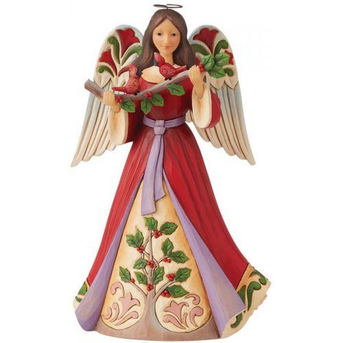 Heartwood Creek Christmas Angel with Holly Figurine 6008921