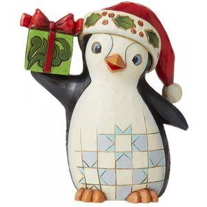 Heartwood Creek Pint Size Figurine - Christmas Penguin