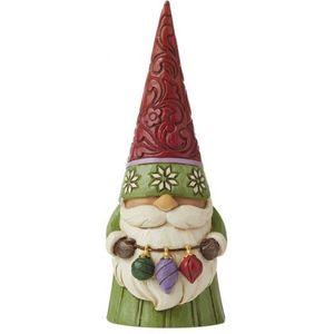 Heartwood Creek Christmas Gnome Holding Ornaments Figurine