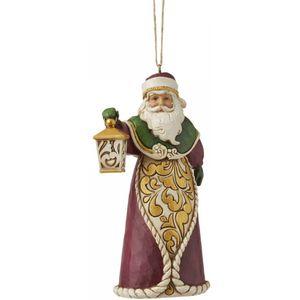 Heartwood Creek Santa with Lantern Hanging Ornament