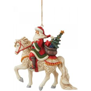 Heartwood Creek Hanging Ornament - Santa Riding Horse