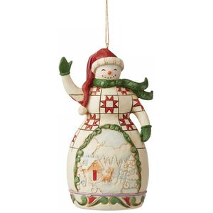 Heartwood Creek Red & Green Snowman Hanging Ornament
