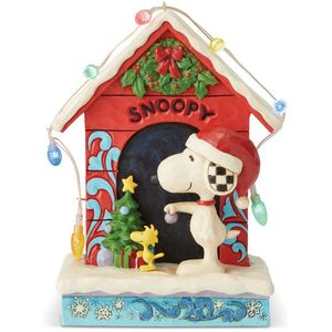 Peanuts by Jim Shore Illuminated Figurine - Snoopy by Dog House