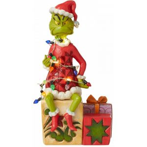 The Grinch by Jim Shore Figurine - Light Up Grinch on Gifts