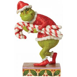 The Grinch by Jim Shore Figurine - Grinch Stealing Candy Canes