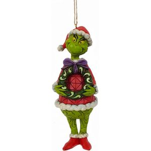 The Grinch by Jim Shore Hanging Ornament - Grinch with Wreath