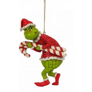 The Grinch by Jim Shore Hanging Ornament - Grinch Stealing Candy Canes