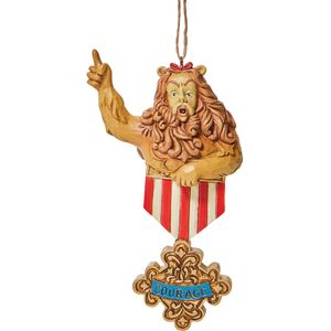 The Wizard of Oz by Jim Shore Hanging Ornament - Cowardly Lion Courage