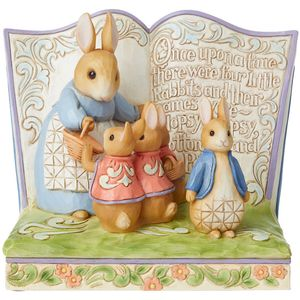 Beatrix Potter Once Upon a Time There Were 4 Little Rabbits Storybook Figurine