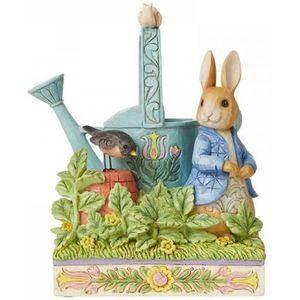 Beatrix Potter by Jim Shore Peter Rabbit Caught in Mr McGregors Garden Figurine