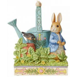 """""""Caught in Mr McGregors Garden"""" Peter Rabbit Figurine"""