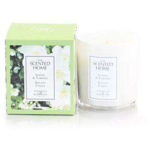 Ashleigh & Burwood Scented Home Glass Candle - Jasmine & Tuberose