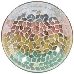 Aroma Jar Candle Plate: Tricolour Diamond