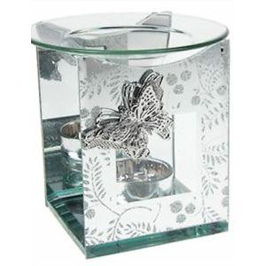 Mirrored Glitter Wax Melt/Oil Burner - Butterfly