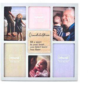 Celebrations Moments Wooden Collage Photo Frame - Grandchildren