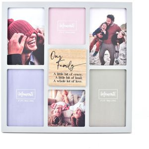 Celebrations Moments Wooden Collage Photo Frame - Our Family