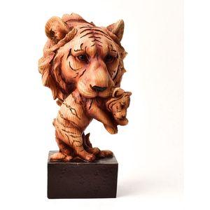 Naturecraft Wood Effect Resin Figurine - Tigers