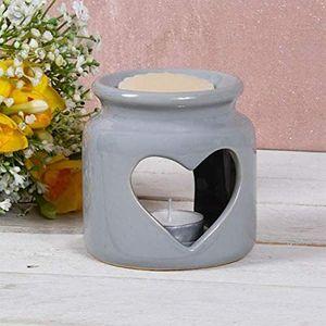 Desire Wax Melt Warmer/Oil Burner - Heart (Grey)