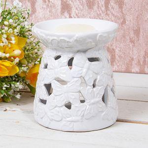 Desire Wax Melt Warmer/Oil Burner - Butterfly (White)
