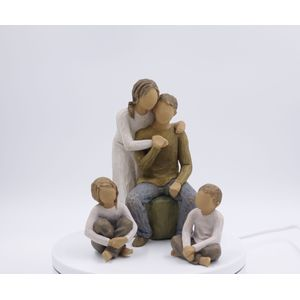 Willow Tree Figurines Set Mother & Father with Son & Daughter Option 5