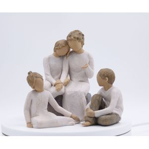 Willow Tree Figurines Set Grandmother with Three Grandchildren Option 3