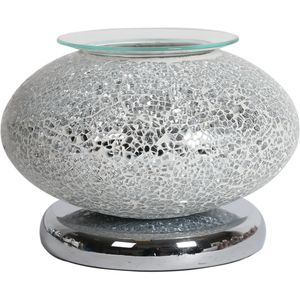 Aroma Electric Wax Melt Burner Touch - Ellipse Silver Mosaic