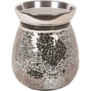 Aroma Electric Wax Melt Burner - Silver Mirror Crackle
