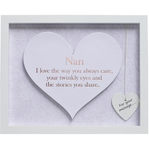 Said with Sentiment Heart in Frame - Nan