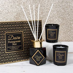 Desire Reed Diffuser & Candles Gift Set - Pomegranate Noir