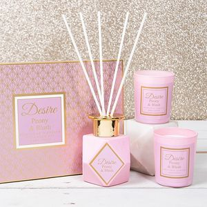Desire Reed Diffuser & Candles Gift Set - Peony & Blush