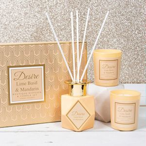 Desire Reed Diffuser & Candles Gift Set - Lime Basil & Mandarin
