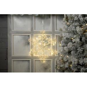 Christmas Decoration - Starburst Snowflake Hanging Light Warm White 40cm