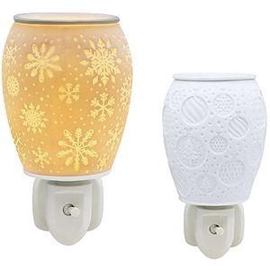 Desire Aroma Wax Melt Warmer Plug In - White Christmas Snowflake