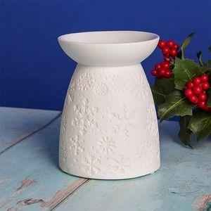 Desire Wax Melt Warmer/Oil Burner - White Christmas Snowflake