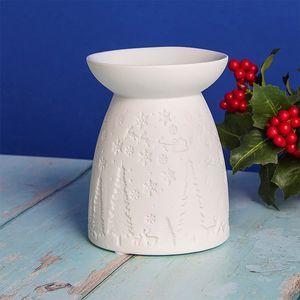 Desire Wax Melt Warmer/Oil Burner - White Christmas Santa