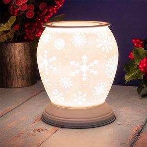 Desire Electric Aroma Lamp Wax Melt Warmer - White Christmas Snowflake