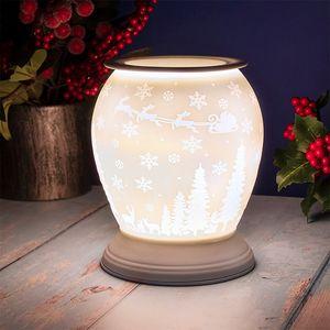 Desire Electric Aroma Lamp Wax Melt Warmer - White Christmas Santa
