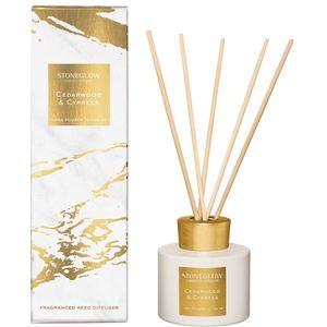 Stoneglow Candles Luna Reed Diffuser 120ml - Cedarwood & Cypress