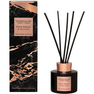 Stoneglow Candles Luna Reed Diffuser 120ml - Dark Amber & Vetiver