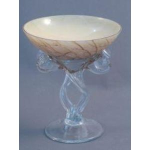 Small Brown Marble Twist Leg Bowl 14cm